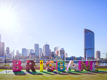 Brisbane sign at South Bank