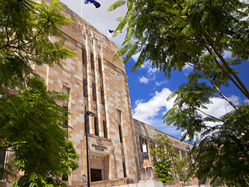 Sandstone building a the University of Queensland, Brisbane